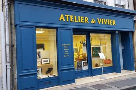 façade de la Galerie d'art contemporain le viver à Moret-sur-Loing