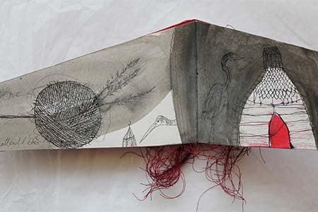 livre d'artiste illustré à l'encre et au crayon par Viviane Michel