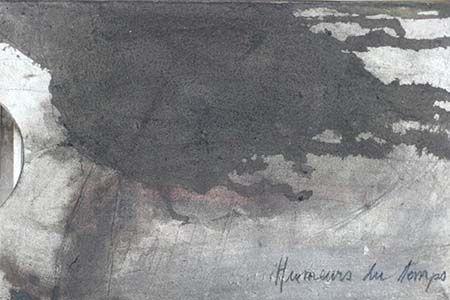 Couverture en carton et bois teinté du livre d'artiste de Viviane Michel