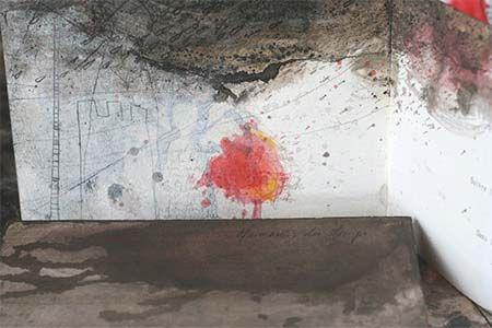 illustrations à l'encre et au crayon des poèmes de Isabelle Rousselot par Viviane Michel