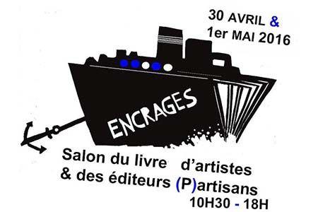 Affiche du Salon du livre d'artiste à la Charité sur Loire en 2016
