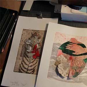 atelier de l'artiste Viviane Michel