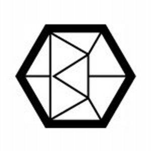 logo géométrique noir et blanc du site contemporain.com