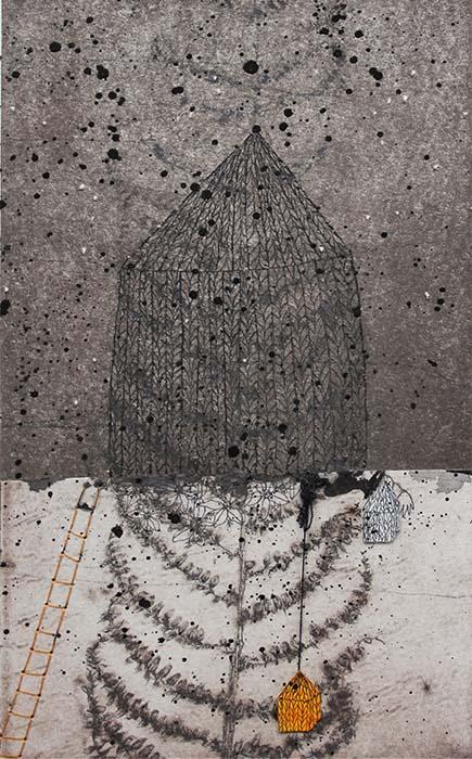 oeuvre symbolique de Viviane Michel autour de l'idée de refuge