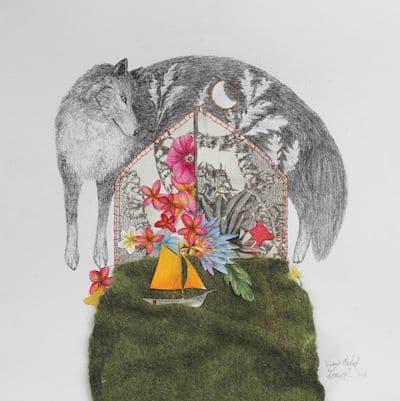 Louve par l'artiste Viviane Michel