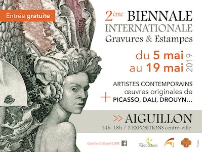 2e biennale internationale de la gravure à Aiguillon