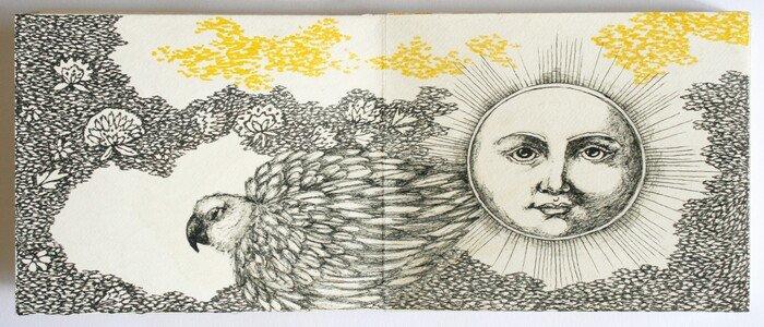 livre artiste premier jour clair et lumineux detail1 viviane michel