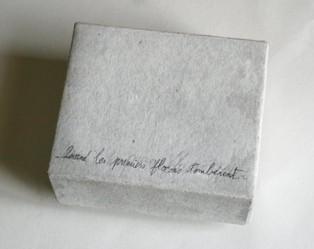 """Livres d'artistes - """"Quand les premiers flocons tombèrent"""" - Boite - Viviane Michel"""