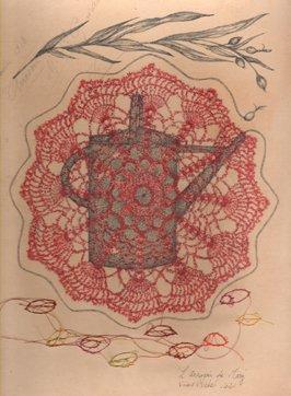 """Portfolio - Œuvres sur papiers - Dénouement - """"L'Arrosoir de Mary"""" - Viviane Michel"""