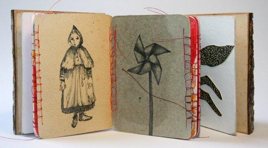 Livre d'artistes le saut du loup chaperon viviane michel nicolas mareau