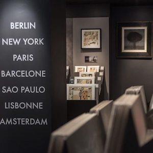 vue d'une salle d'exposition de la galerie carré d'artiste où expose Viviane Michel
