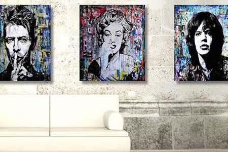 tableaux exposés à la Galerie Art génération à Paris