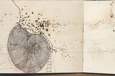 illustration abstraite de textes poétiques