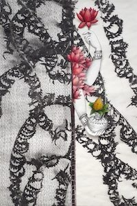 photogravure, encre et fil cousu par Viviane Michel