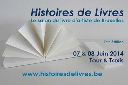 affiche du salon du livre de Bruxelles